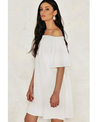 Nasty Gal White Annabel Shift Dress