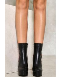 Nasty Gal Black Fuel To The Fire Vegan Leather Boot