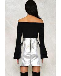 Nasty Gal - Black Brandi Off-the-shoulder Bodysuit - Lyst