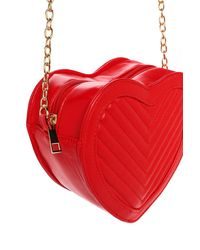 Nasty Gal Red Want Down To A Fine Heart Crossbody Bag