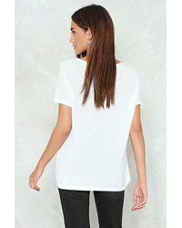 Nasty Gal White Basic Crew Neck T-shirt
