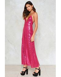 Nasty Gal - Pink Good Times Sequin Dress - Lyst
