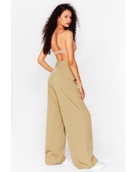 Nasty Gal Natural Woman's World High-waisted Wide-leg Trousers