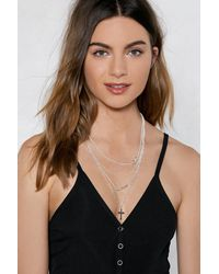 Nasty Gal - Metallic For Infinity Layered Necklace - Lyst