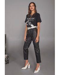 "Nasty Gal Black ""get Together Leather Straight-leg Pants"""