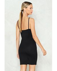 Nasty Gal Black Split Leg Bodycon Dress Split Leg Bodycon Dress