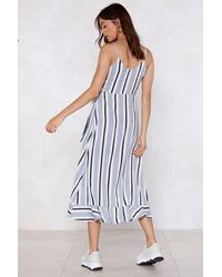 Nasty Gal White Only Line Will Tell Striped Dress