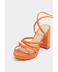 "Nasty Gal Orange ""raise It Up Platform Sandal"""