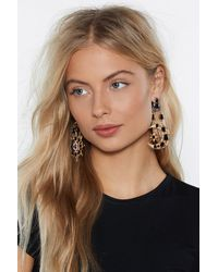 """Nasty Gal - Metallic """"to The Moon And Back Star Earrings"""" - Lyst"""