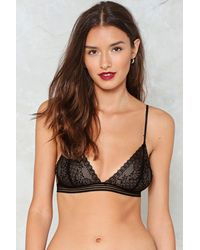 Nasty Gal | Black Open Your Heart Lace Bralette Open Your Heart Lace Bralette | Lyst