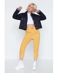 "Nasty Gal Yellow ""strike A Corduroy Pants"""