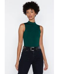 Nasty Gal Green Close To Your Heart Bodysuit