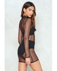 """Nasty Gal Black """"mesh From The Party Dress"""""""