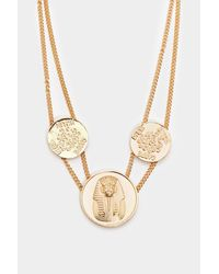 "Nasty Gal Metallic ""walk Like An Egyptian Coin Necklace"""