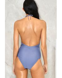 Nasty Gal - Gray Keyhole To My Heart Swimsuit - Lyst