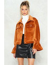 Nasty Gal Multicolor Velvet Popper Jacket Velvet Popper Jacket