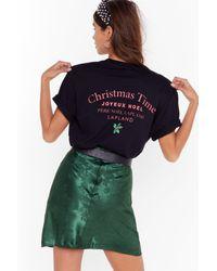 Nasty Gal Black Christmas Time Graphic Tee
