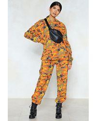 "Nasty Gal - Orange ""makin' A Camo Appearance Hoodie"" - Lyst"