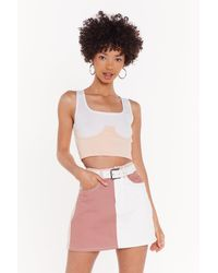 Nasty Gal White Bust Up Corset Tank Top