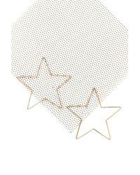 Nasty Gal - Metallic Star Light Star Bright Hoop Earrings - Lyst