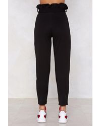 """Nasty Gal Black """"you'll Never Know High-waisted Pants"""""""