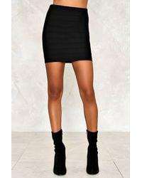 Nasty Gal - Black Diane Mini Skirt - Lyst
