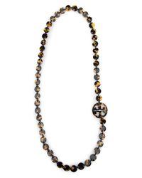 Tory Burch - Multicolor Logo Necklace - Lyst
