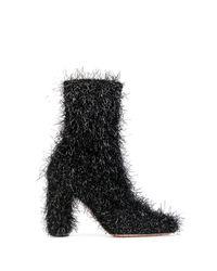 Oscar Tiye - Black Fringed Boots - Lyst