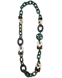 Tory Burch - Multicolor Block Necklace - Lyst