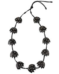 Natori - Black Josie Acacia Wood With Silver Long Necklace - Lyst