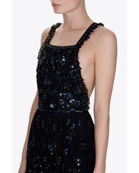 Needle & Thread - Black Embellished Bib Gown - Lyst