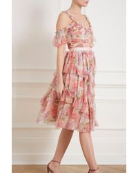 Needle & Thread Pink Titania Rose Tulle Dress
