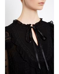 Needle & Thread - Black Rose Chain Top - Lyst