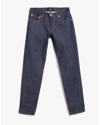 A.P.C. - Blue Midrise Flared Jeans - Lyst