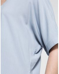Just Female - Blue Puffy Shirt - Lyst