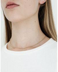 Kathleen Whitaker - Metallic Snake Chain Necklace - Lyst
