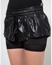Adidas By Stella McCartney - Black Run 2 In 1 Short - Lyst