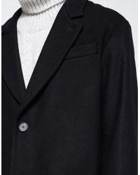 AMI - Black Oversized 2 Buttons Coat for Men - Lyst