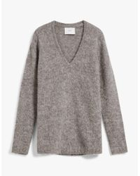 Need Supply Co. - Multicolor Alpha Knit Blouse In Grey - Lyst