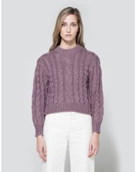 Need Supply Co. Multicolor Braid Crop Sweater