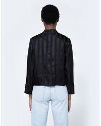 Ganni - Kendal Silk Top In Black - Lyst