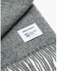 Norse Projects - Gray Norse X Johnstons Lambswool Scarf for Men - Lyst