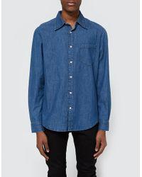 Cheap Monday | Blue Rude Denim Shirt for Men | Lyst
