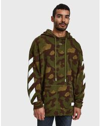 2ba6c89a27a2 Lyst - Off-White c o Virgil Abloh Diag Camouflage Hoodie in Green ...