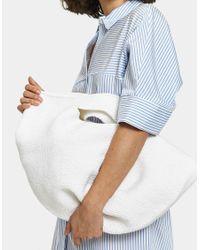 Lauren Manoogian Crochet Bowl Bag In White