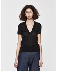 cbcda428050 Jacquemus La Maille Marinaio Open Back Tee in Black - Lyst