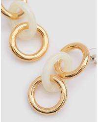 Lizzie Fortunato - White Triplet Ivory Link Earrings - Lyst