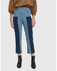 45f941f96a4d Lyst - Rachel Comey Bismark Two-tone Denim Trouser in Blue