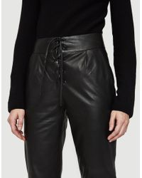 Just Female - Black Robin Leather Pants - Lyst