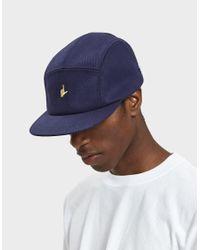Larose Paris - Blue L Hand Logo Baseball Cap In Navy for Men - Lyst
